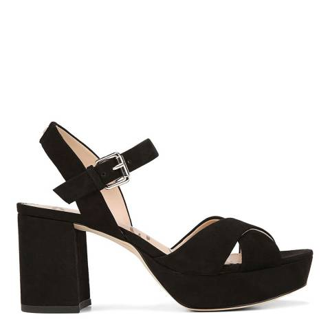 Sam Edelman Black Suede Jolene Heeled Sandals