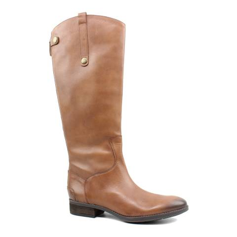 Sam Edelman Brown Leather Penny Riding Boots