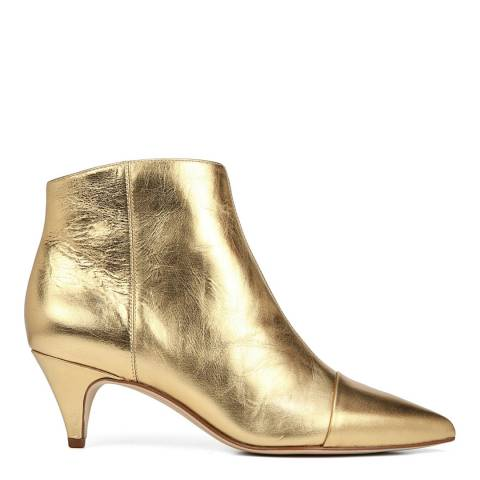 Sam Edelman Bright Gold Leather Kinzey 2 Ankle Boots