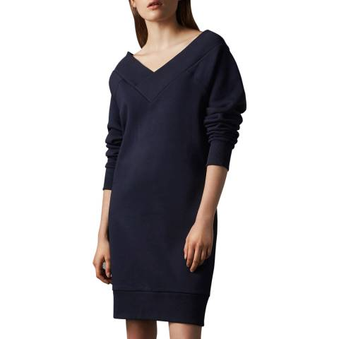 Burberry Navy V-Neck Dress