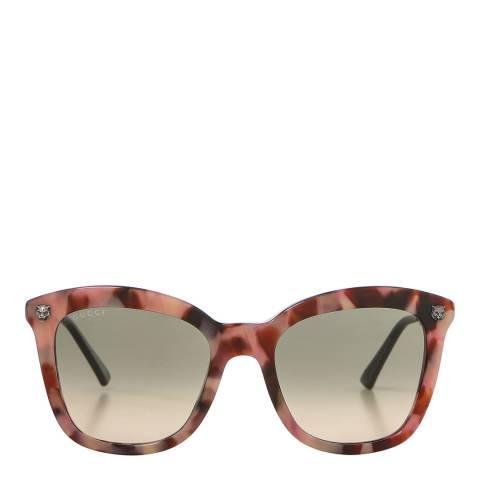Gucci Women's Silver Cat Eye Gucci Sunglasses 52mm