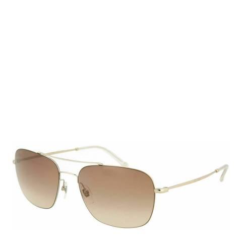 Gucci Gold / Brown Aviator Gucci Sunglasses 58mm