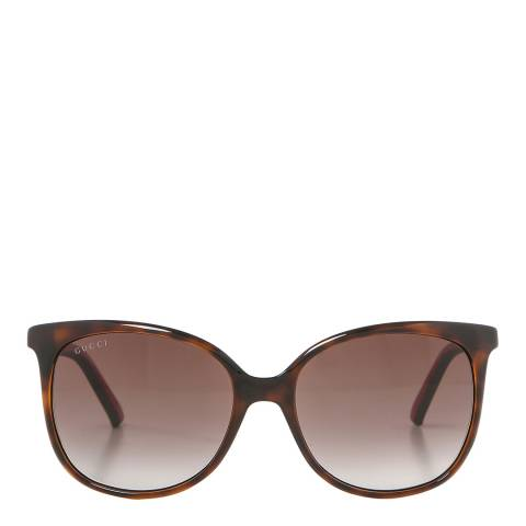 Gucci Women's Brown Gucci Sunglasses 56mm