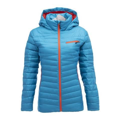 Spyder Women's Blue Timeless Hoody Down Jacket