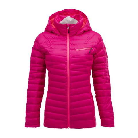 Spyder Women's Pink Timeless Hoody Down Jacket