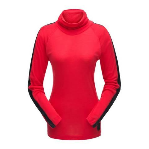 Spyder Women's Red Turtleneck Top