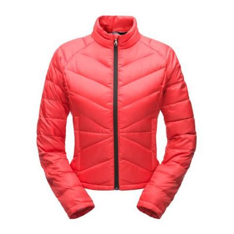 Spyder Women's Red Solitude Crop Down Jacket