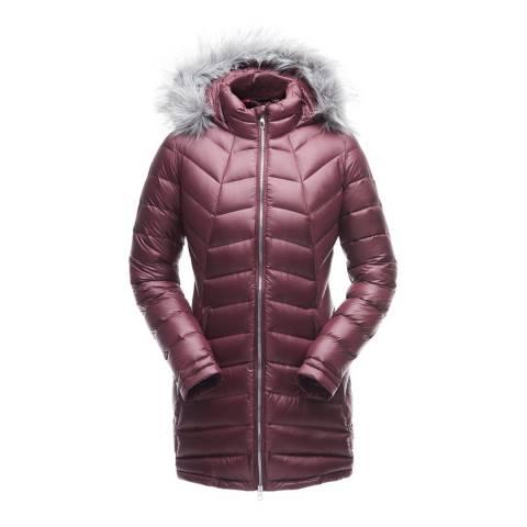 Spyder Women's Dark Red Syrround Faux Fur Down Jacket