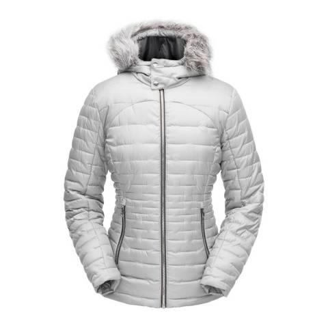 Spyder Women's Grey Edyn Hoody Insulted Jacket
