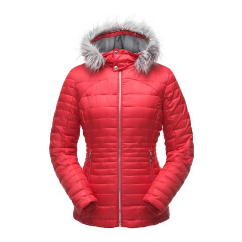 Spyder Women's Red Edyn Hoody Insulted Jacket