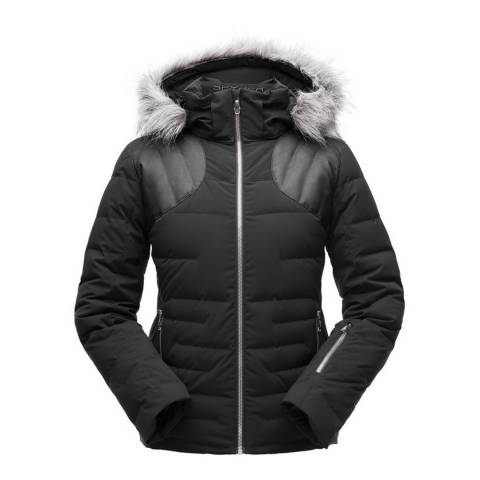 Spyder Women's Black Falline Faux Fur Jacket