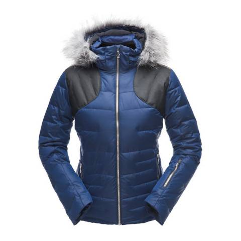 Spyder Women's Blue Falline Faux Fur Jacket