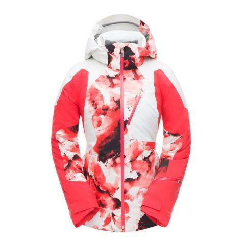 Spyder Red/White Leader Ski Jacket