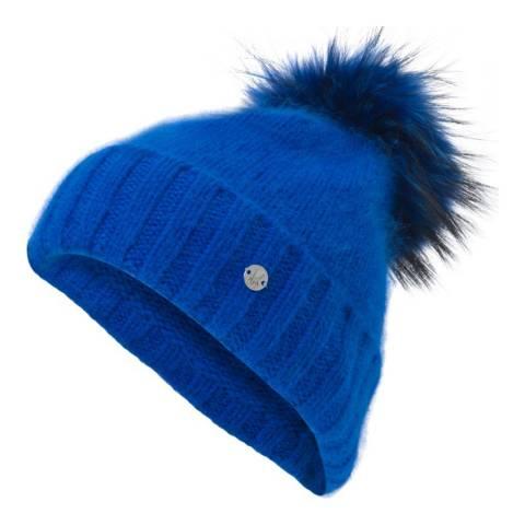 Spyder Women's Blue Furry Hat