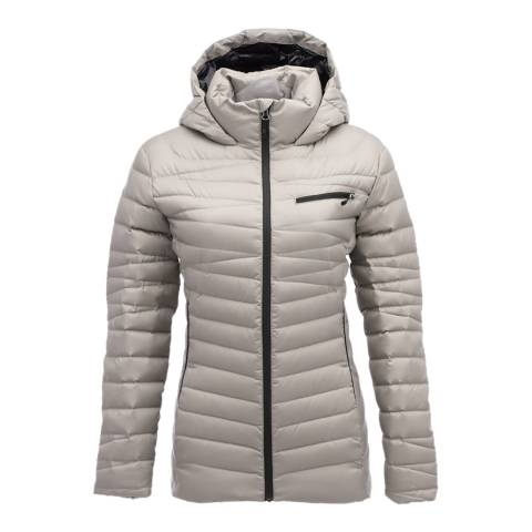 Spyder Women's Cream Timeless Hoody Down Jacket