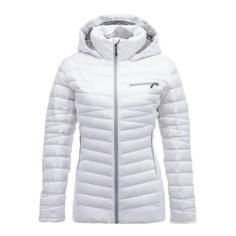 Spyder Women's White Timeless Hoody Down Jacket