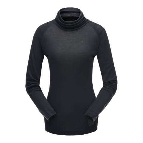 Spyder Women's Black Allure Turtleneck Jumper