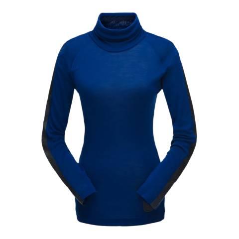 Spyder Women's Blue Allure Turtleneck Jumper