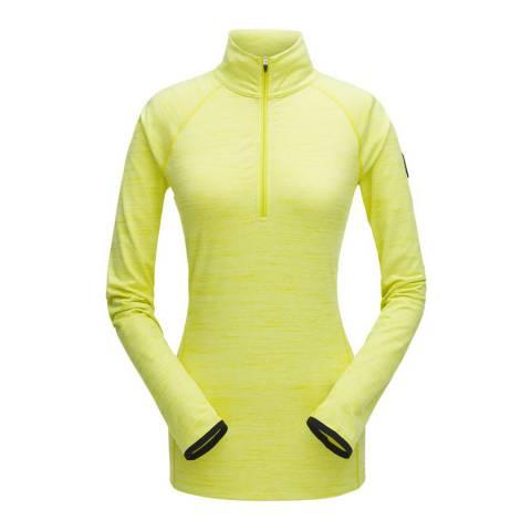 Spyder Women's Yellow Unyte Zip T-Neck