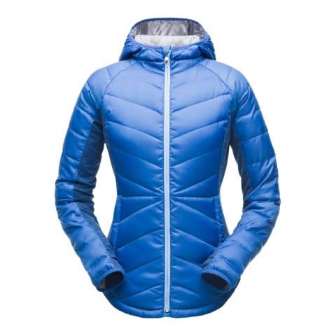 Spyder Women's Blue Solitude Hoody Down Jacket