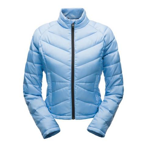 Spyder Women's Blue Solitude Crop Down Jacket