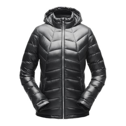 Spyder Women's Black Syrround Hybrid Hooded Jacket