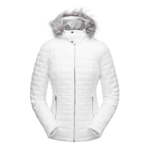 Spyder Women's White Edyn Hoody Insulted Jacket