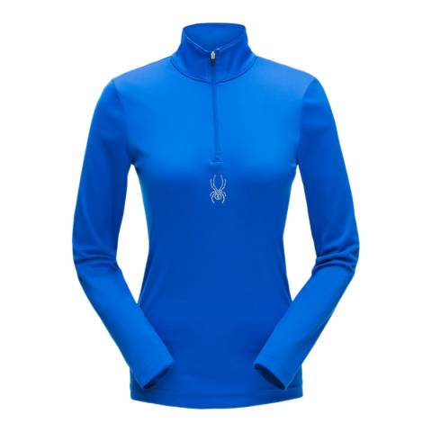 Spyder Women's Blue Turbo Zip T-Neck