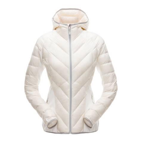 Spyder Women's White Syrround Hybrid Hooded Jacket