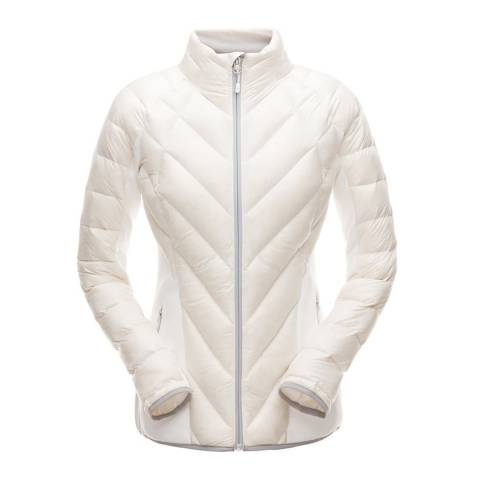Spyder Women's White Syrround Hybrid Full Zip Jacket