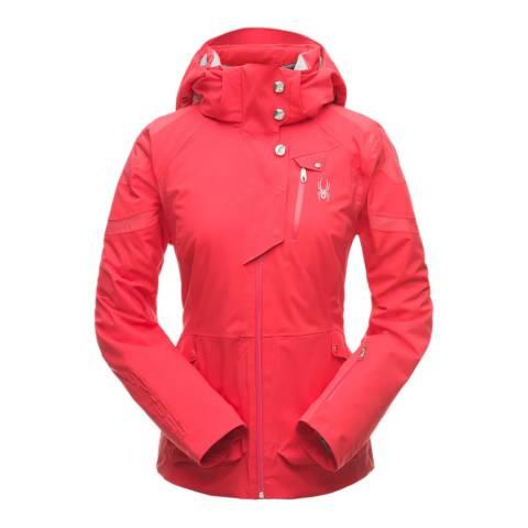 Spyder Women's Red Meribel Ski Bomber Jacket