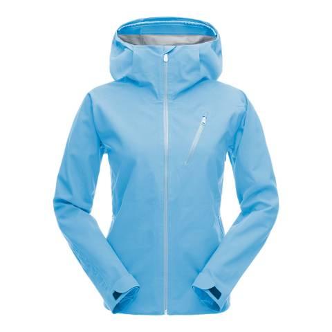 Spyder Women's Blue Jagged Shell Ski Jacket