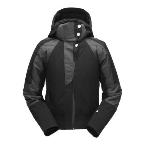 Spyder Women's Black Meribel Ski Bomber Jacket