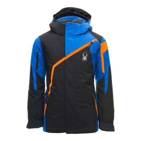 Spyder Kid's Black/Blue Challenger Jacket