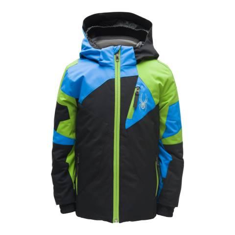 Spyder Kid's Mini Black/Blue Leader Jacket