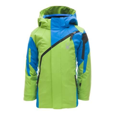Spyder Kid's Mini Green/Blue Challenger Jacket