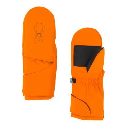 Spyder Kid's Mini Orange Cubby Ski Mitten