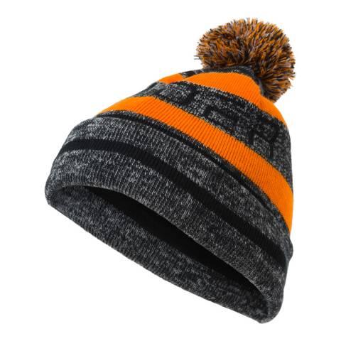 Spyder Kid's Grey/Orange Icebox Pom Hat