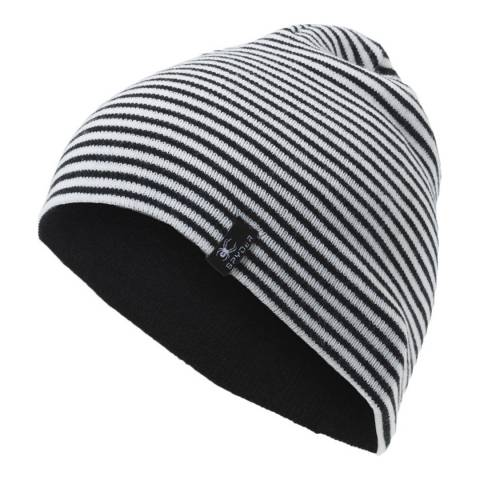 Spyder Kid's Black/White Flux Reversible Hat