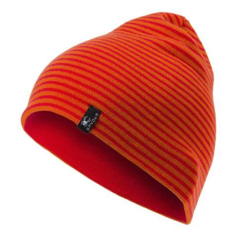 Spyder Kid's Hibiscus Red/Orange Flux Reversible Hat
