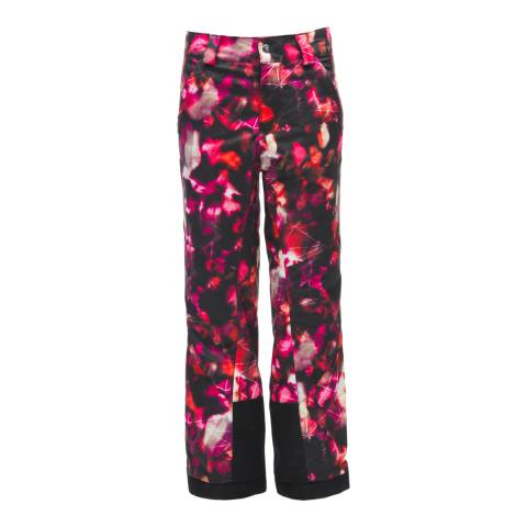 Spyder Kid's Black/Daybreaker Print Olympia Tailored Pant