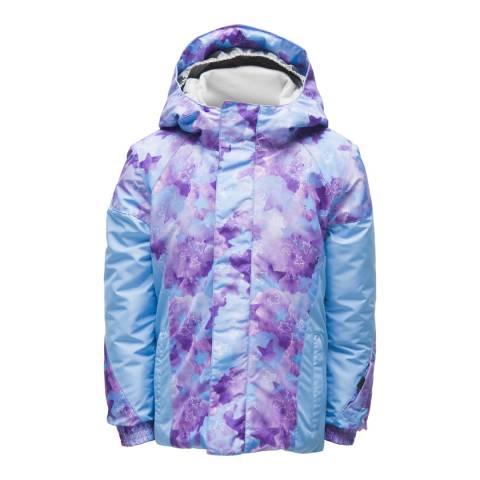 Spyder Kid's Mini Blue Stargazer/Ice Print Charm Jacket