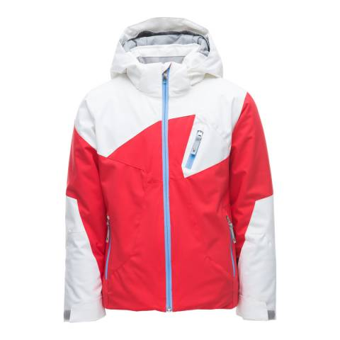 Spyder Kid's White/Hibiscus Red Ava Jacket