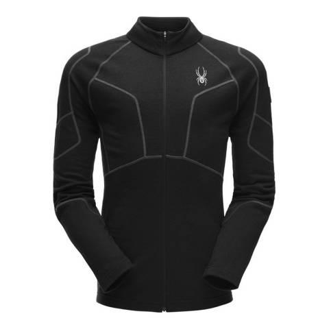 Spyder Men's Black Full Zip Fleece T-Neck