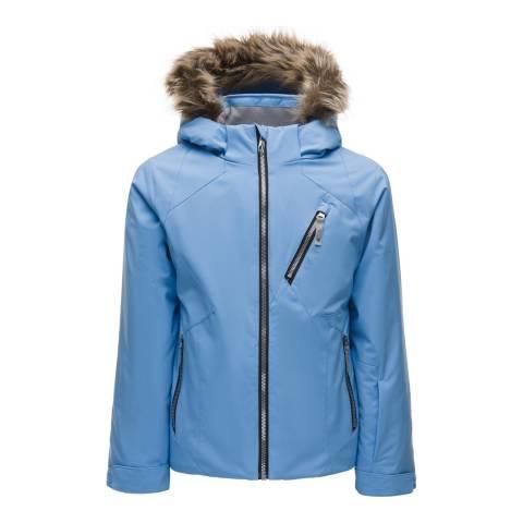 Spyder Kid's Blue Geneva Faux Fur Trim Jacket