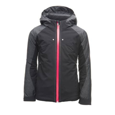 Spyder Kid's Black Tresh Contrast Zip Jacket