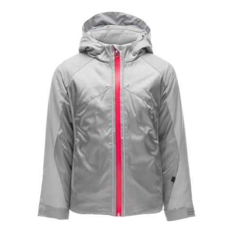 Spyder Kid's Grey Tresh Contrast Zip Jacket