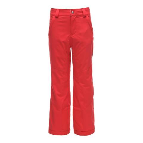 Spyder Kid's Red Olympia Regular Pant