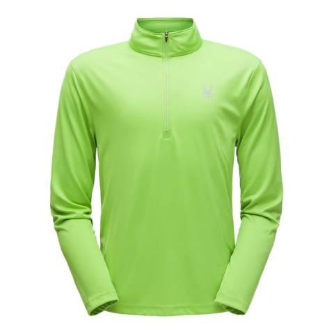 Spyder Men's Green Limitless Solid Zip T-Neck
