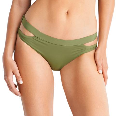 Seafolly Moss Active Split Band Hipster